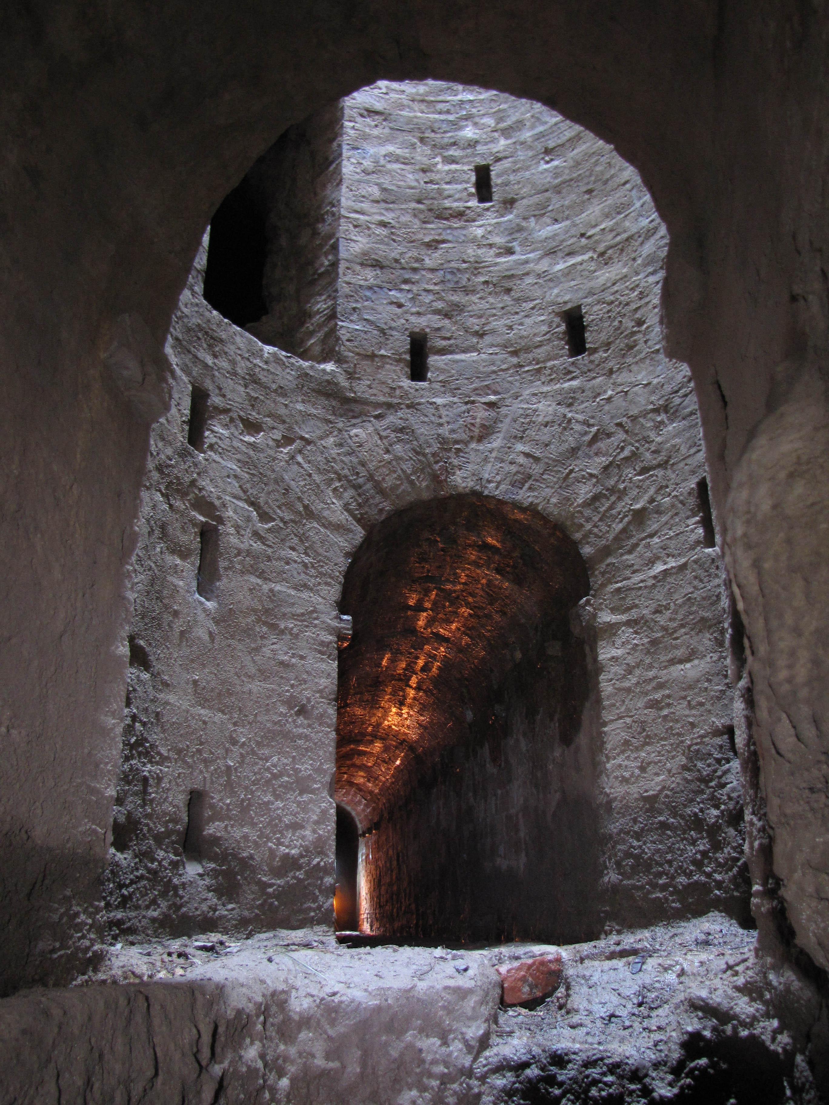 Galleria inferiore presso il pozzo sulla serra del fosso Boccajone