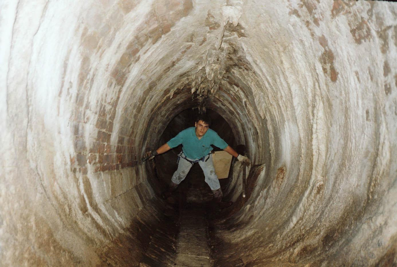 Tratto del fosso Boccajone a sezione ellittica